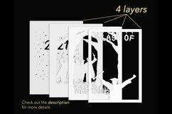 3D Layered Graduation Shadow Box svg, Light Box Template Product Image 3