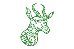 Springbok Head Paper Cut Product Image 1