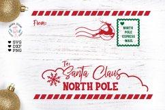 Letter to Santa SVG - Santa Envelope Cut File and Printable Product Image 1