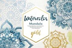 Floral Watercolor & Gold Mandala Product Image 1