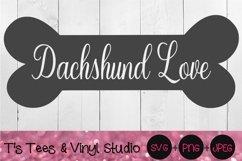 Dachshund Svg, Bone, Dog Bone, Dachshund Love, Mini, Puppy Product Image 1