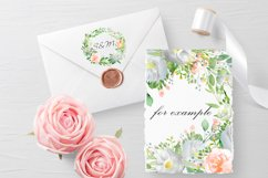 Watercolor white peach flower clip art Product Image 3