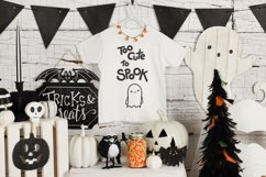 Halloween SVG Halloween quotes SVG Too cute to spook Shirt Product Image 5