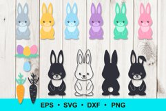 Easter Bunny Rabbit clip art Product Image 1