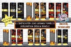 Firefighter  20oz Skinny tumbler  Sublimation Wrap Bundle Product Image 1