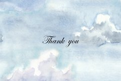 Watercolor Sky and Clouds. Patterns, Illustrations, Cliparts Product Image 6