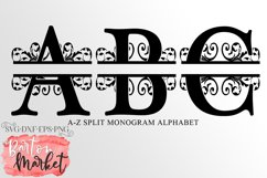 Split Letters A-Z Alphabet for Crafters Product Image 1