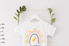 Easter baby onesie shirt SVG, Easter rainbow svg, easter svg Product Image 2
