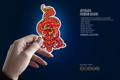 Animal Red Dragon Asia Oriental SVG Illustrations Product Image 2