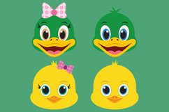 Barnyard Animal Clipart Bundle, Happy Faces, PNG, JPEG, EPS Product Image 5