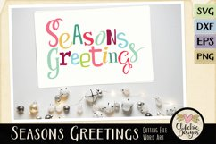 Chistmas SVG - Seasons Greetings Word Art & Vector Clipart Product Image 3