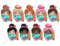 Travel CUTE DOLLS Adventure Vacation Wanderlust Clipart PNG Product Image 3