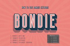 Bondie Extrude Font Family Product Image 1