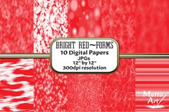 Bright Red Forms - 10 Digital Papers/Backgrounds Product Image 1