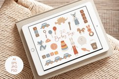 Boho Baby Toys Clipart, 20 Abstract Baby Elements Product Image 4