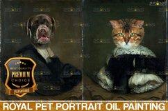 MEGA BUNDLE Royal Pet Portrait templates Digital pet Product Image 6