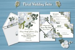 White Floral Wedding Invitation Suite Product Image 2