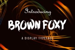 BROWN FOXY Typeface Product Image 2