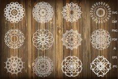 Mandala svg,Mandalas svg,Mandala Monogram Frame Product Image 1