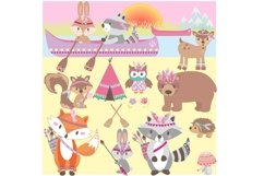 Girls Tribal Animals Clipart Product Image 3