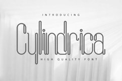 Cylindrica Font Product Image 1
