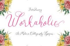 Workaholic Typeface Product Image 1