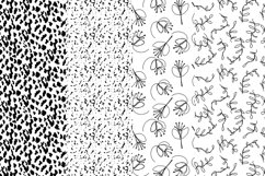 37 monochrome patterns. Hand drawn seamless backgrounds. Product Image 6