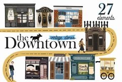The Downtown vintage stores clip art Product Image 1