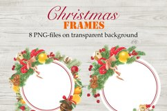 Watercolor Christmas Frames and Wreaths Product Image 2