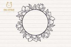 Magnolia mini Bundle SVG, Floral Monograms Cut Files, Weddin Product Image 4