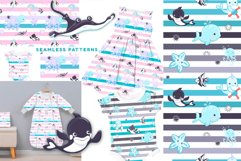 Sea life 8 seamless patterns Product Image 3