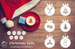 Christmas ball svg, Christmas Ornament SVG Bundle Product Image 1