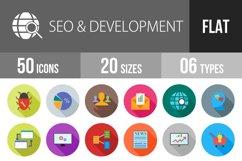 SEO & Development Flat Long Shadow Icons Product Image 1