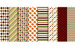 Autumn Pumpkin Digital Papers, Fall Leaves, Acorn Patterns Product Image 3