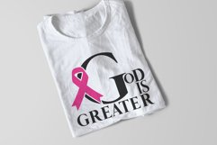 God is Greater SVG   Awareness Ribbon   Christian Cut File Product Image 5