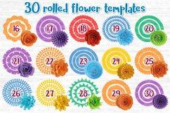 Paper Flower svg, 3d flower svg, Rolled Flower svg file, Product Image 3