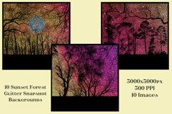 Sunset Forest Glitter Snapshot Backgrounds - 10 Image Set Product Image 3