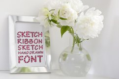 Wrapped in ribbon sketch font Product Image 2