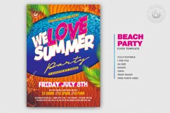 Beach Party Flyer Template V8 Product Image 2