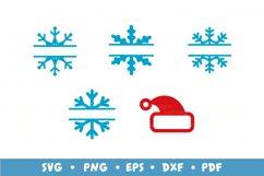 20 Christmas Frames Bundle, Monogram Frames SVG Cut Files Product Image 5