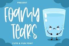 Web Font FoamyTears - Cute & Fun Font Product Image 1