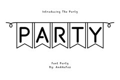 Party font Product Image 1