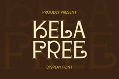 Web Font Kela Free Font Product Image 1