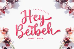 Hey Beibeh - lovely font Product Image 1