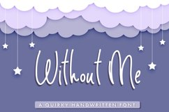 Without Me - Handwritten Pencil Font Product Image 1