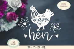 mama hen SVG cut file barn animal chicken Product Image 1