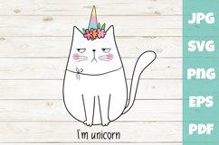 Unicorn svg - Cat SVG - I am unicorn Product Image 1