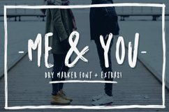 Me & you - dry marker font and extras! Product Image 1