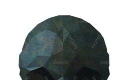 SKULL and Crossbones polygonal clipart. Vector illustration Product Image 6