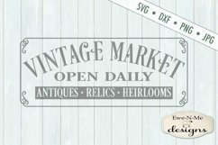 Vintage Market Open Daily - SVG DXF Files Product Image 2